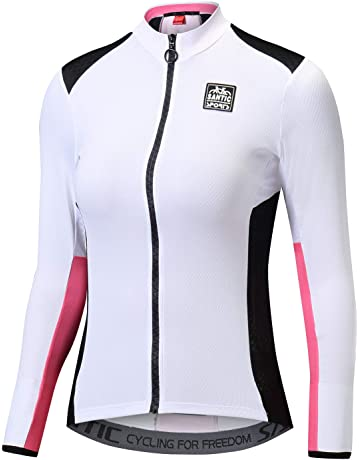 11b7adf45 Santic Cycling Jersey Women s Long Sleeve Tops Bike Shirts Bicycle Jacket  with Pockets