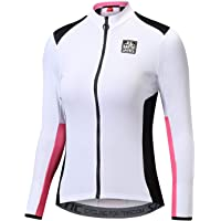 Santic Cycling Jersey Women's Long Sleeve Tops Bike Shirts Bicycle Jacket with Pockets