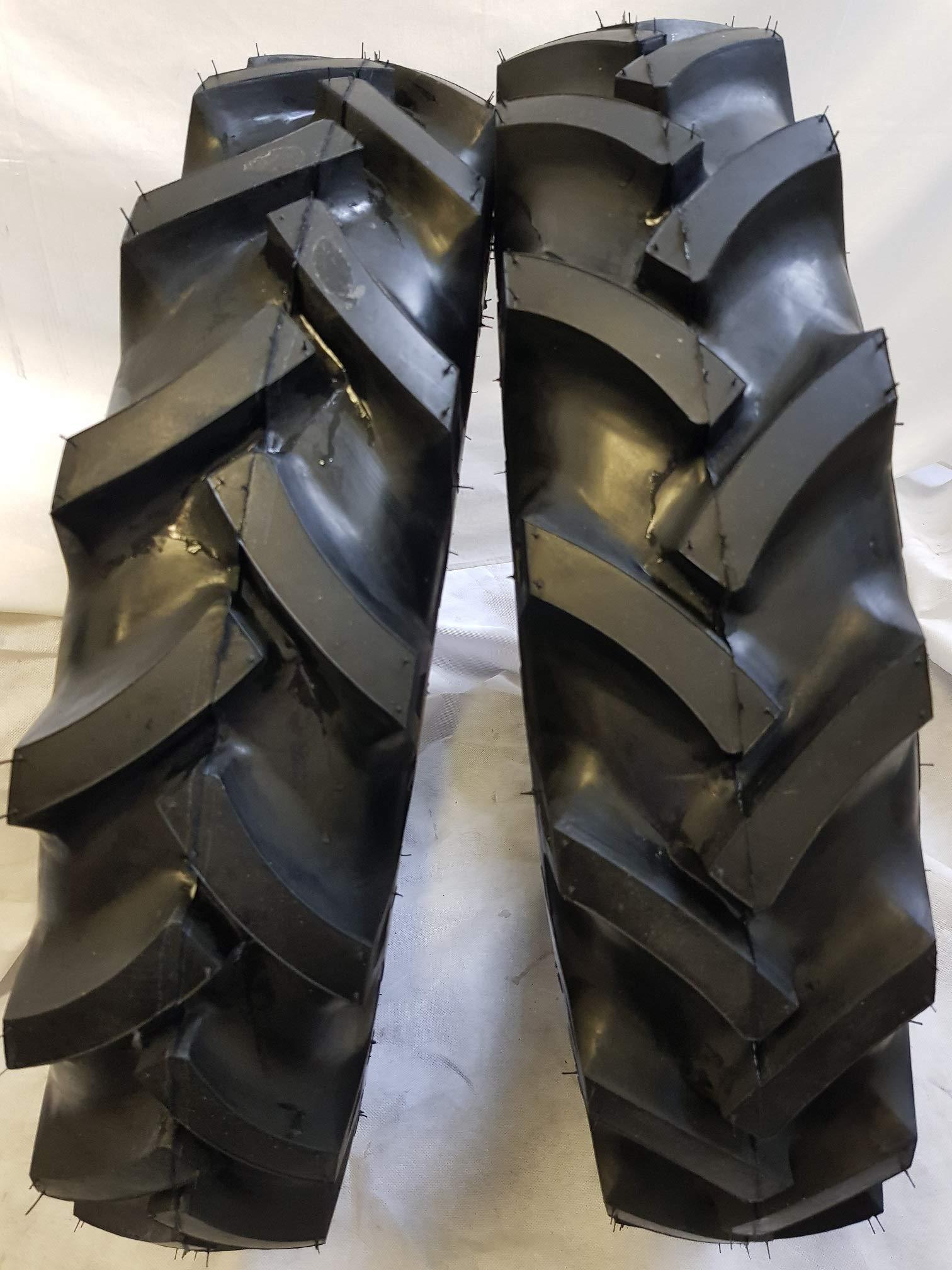 (2 TIRES + 2 TUBES) 6.50-16 6 PLY ROAD WARRIOR KNK50 R1 3-Rib Farm Tractor Tires 6.50x16