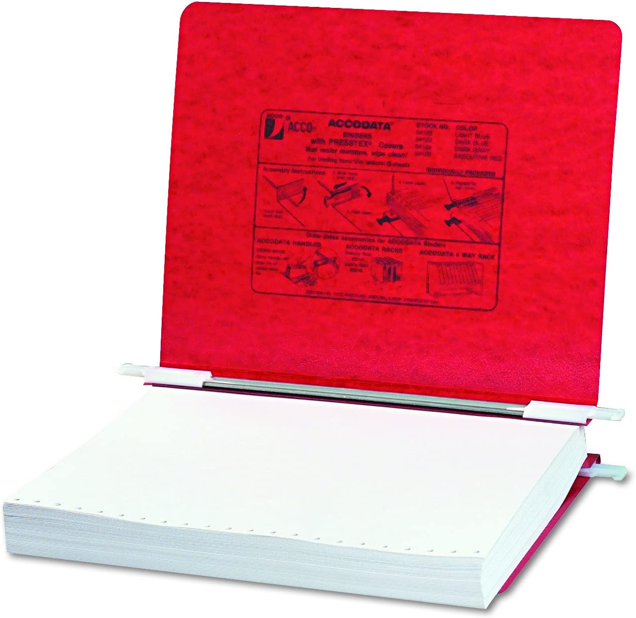55261 ACCO 3-Hole Laser Printer Hanging Expandable Binder 8.5 x 11 Inches Red