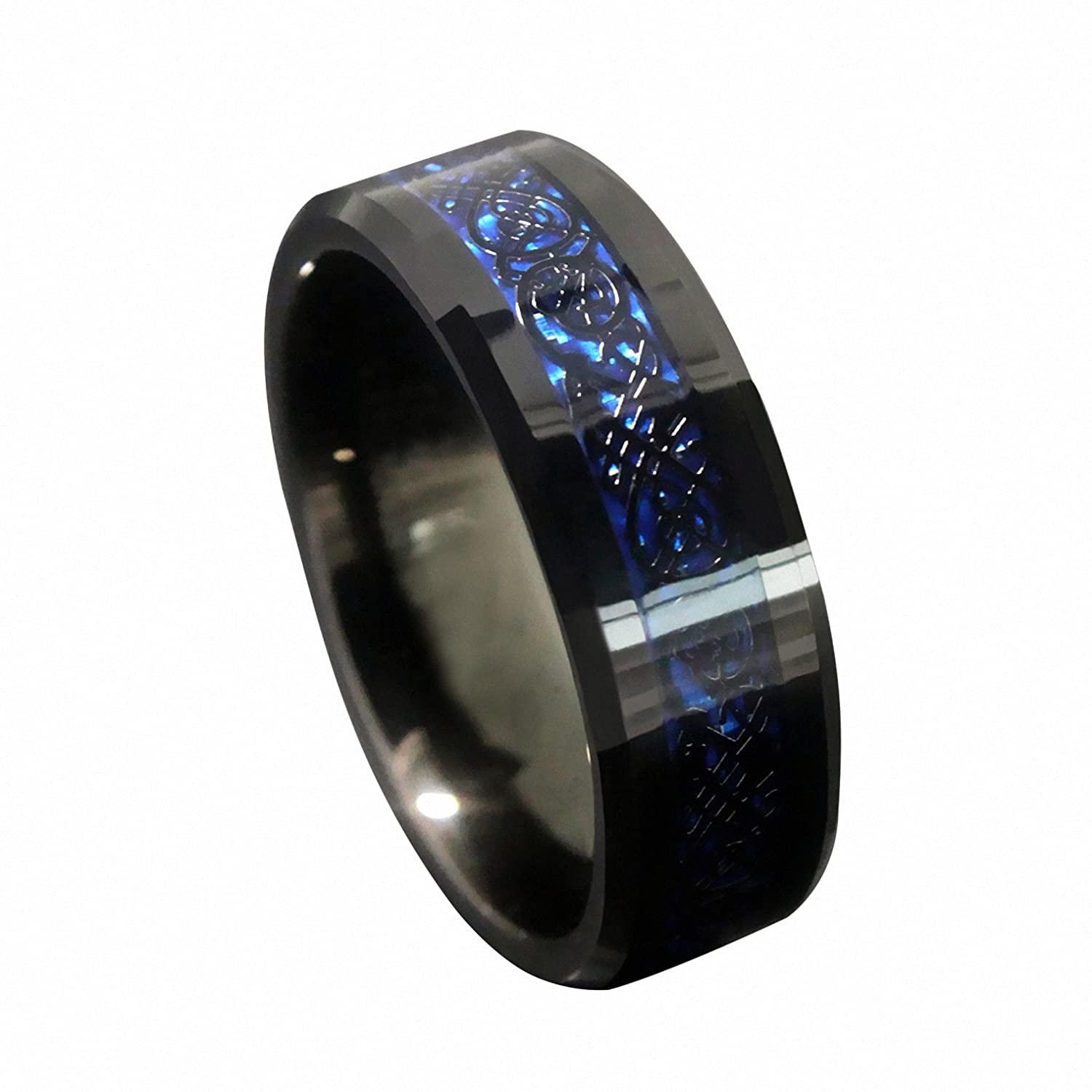 best ring bands women steel symbol unique sets rings lovely of loyalty mens blue wedding