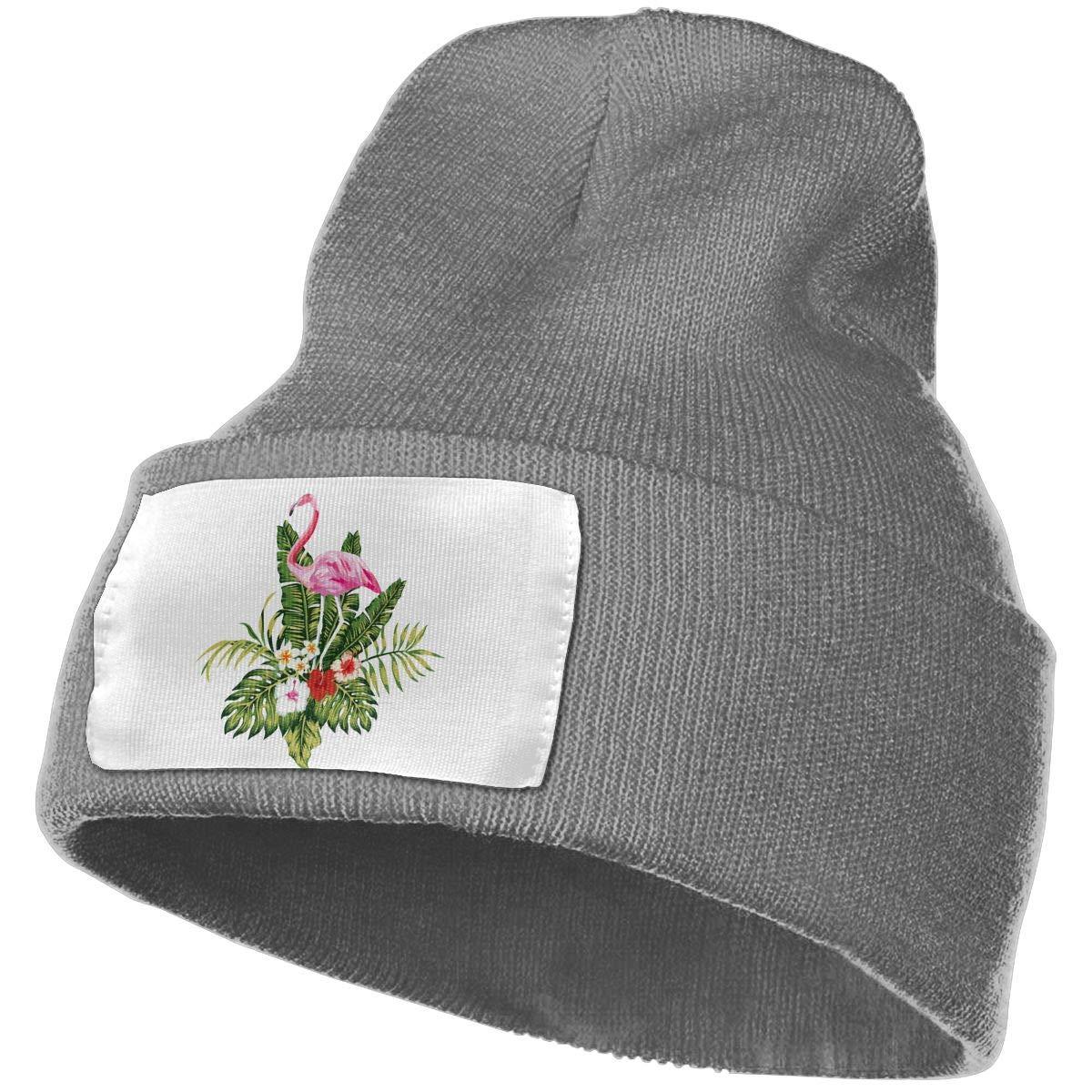 Pink Flamingos Birds Men /& Women Skull Caps Winter Warm Stretchy Knit Beanie Hats