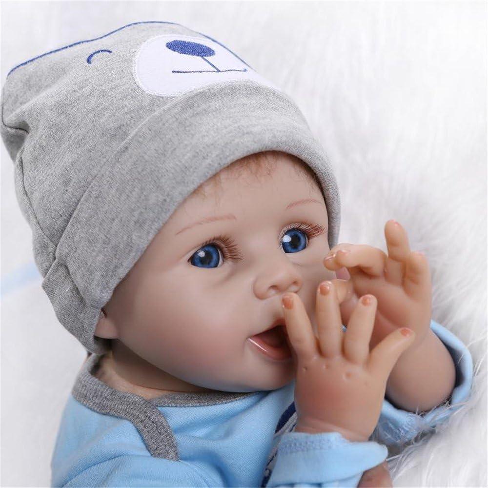 ZIYIUI Lifelike Reborn Baby Doll Boy Soft Silicone Newborn Nurturing Dolls Handmade Babies Realistic 55cm Kids Toys for Age 3+