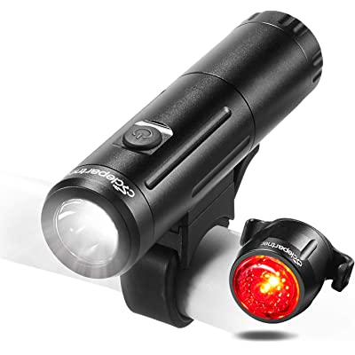 Cyclepartner Elite-700 Luz Bicicleta LED Recargable USB,4 Modos 700 Lúmenes IP65 Impermeable, Luces para Ciclismo, Camping y Carretera,Superbrillantes para Noche Conductores
