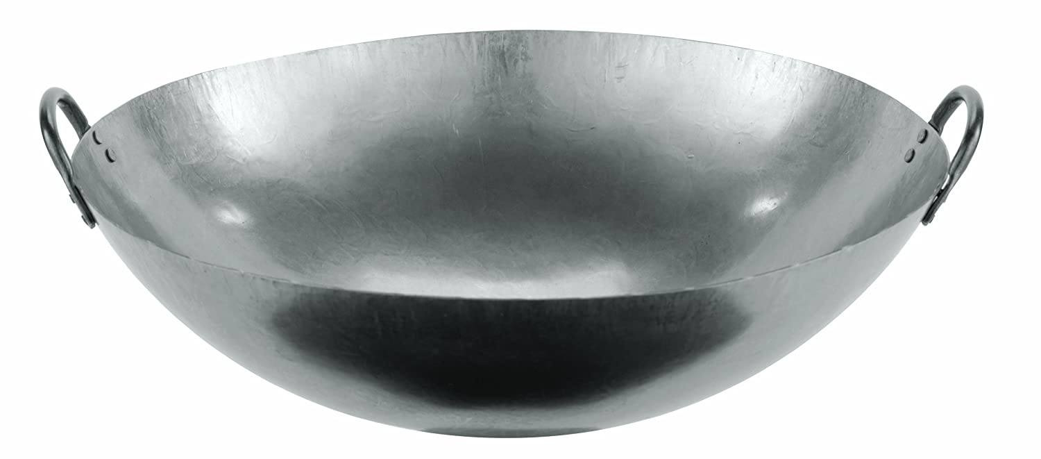 World Cuisine 18 Dual Handled Steel Chinese L 18 X W 18 X H 5.5 49605-46