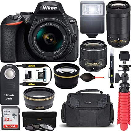Amazon.com: Nikon D5600 24,2 MP cámara réflex digital AF-P ...