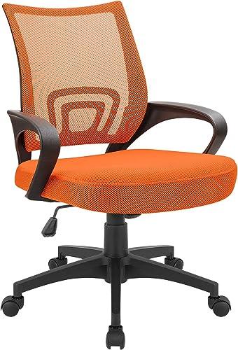Devoko Office Chair Ergonomic Mid Back Swivel Mesh Chair Height Adjustable Lumbar Support Computer Desk Chair