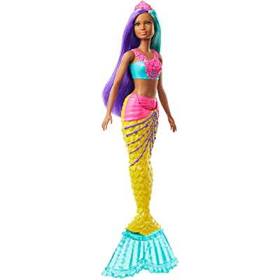 Barbie Dreamtopia Mermaid Doll, 12-inch, Teal and Purple Hair: Toys & Games