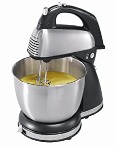 Hamilton Beach 64650 6-Speed Classic Stand Mixer, Stainless Steel, Stainless steel