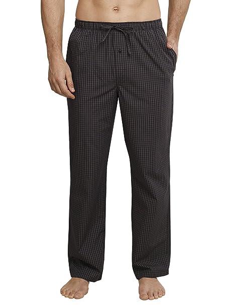 Mix & Relax Hose Lang, Pantalones de Pijama para Hombre, Gris (Anthrazit 203), Small (Talla del Fabricante: 048) Schiesser