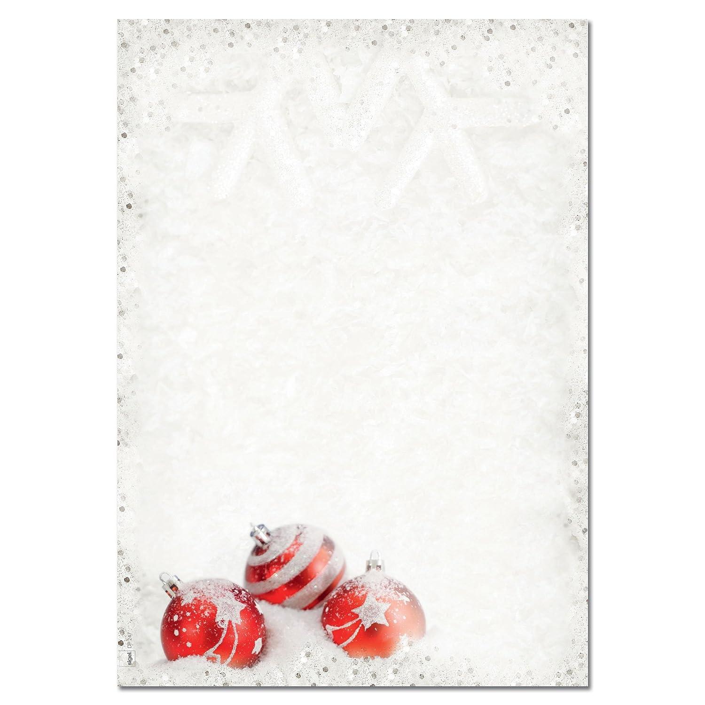 Sigel DP247 100 fogli di carta da lettere a tema natalizio, formato A4, motivo: Winter Flair
