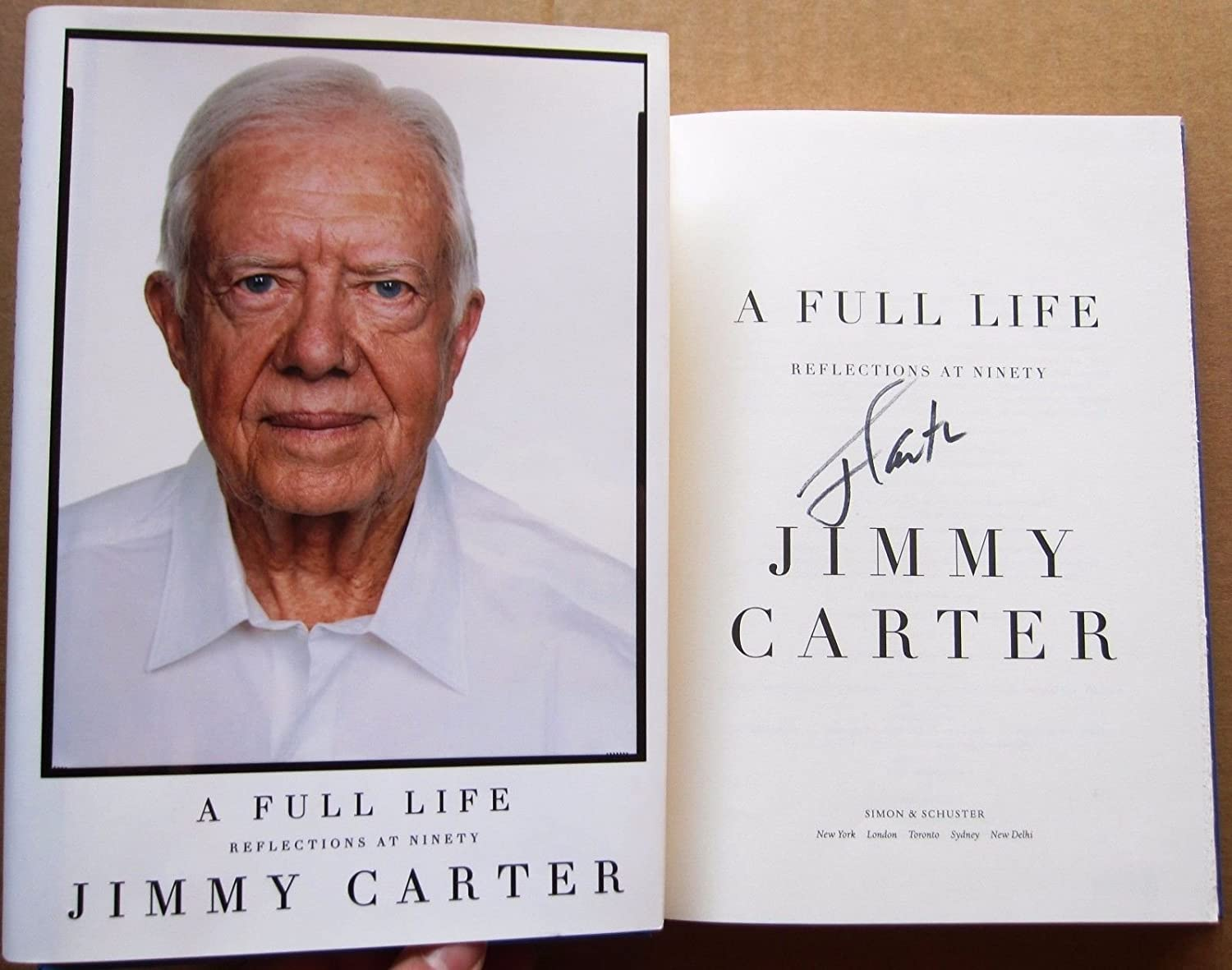 President Jimmy Carter signed Book A Full Life 1st Print POTUS BAS Authenticated