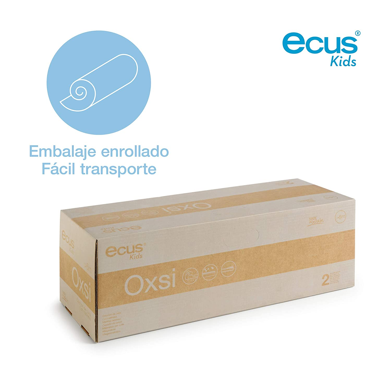 cara antiasfixia e invierno Ecus Kids OXSI 117cm x 57cm Colch/ón de cuna Ox/ígena HR con cremallera perimetral