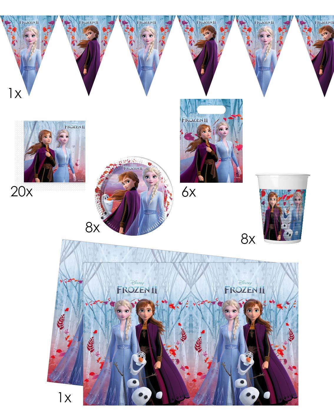 Folat 00262 Paquete para fiesta Frozen 2, multicolor: Amazon ...