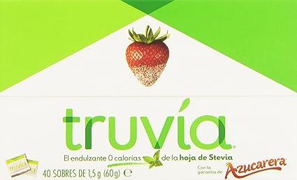 Truvia Endulzante 0 Calorías de La Hoja de Stevia - 40 Sobres