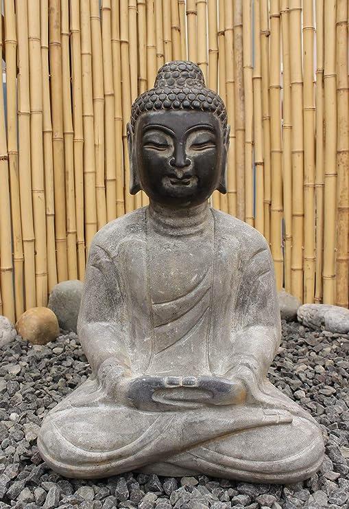 Asia Lifestyle Jardín Buda (45 cm) Resistente a Las heladas Piedra Natural Figura Escultura: Amazon.es: Jardín