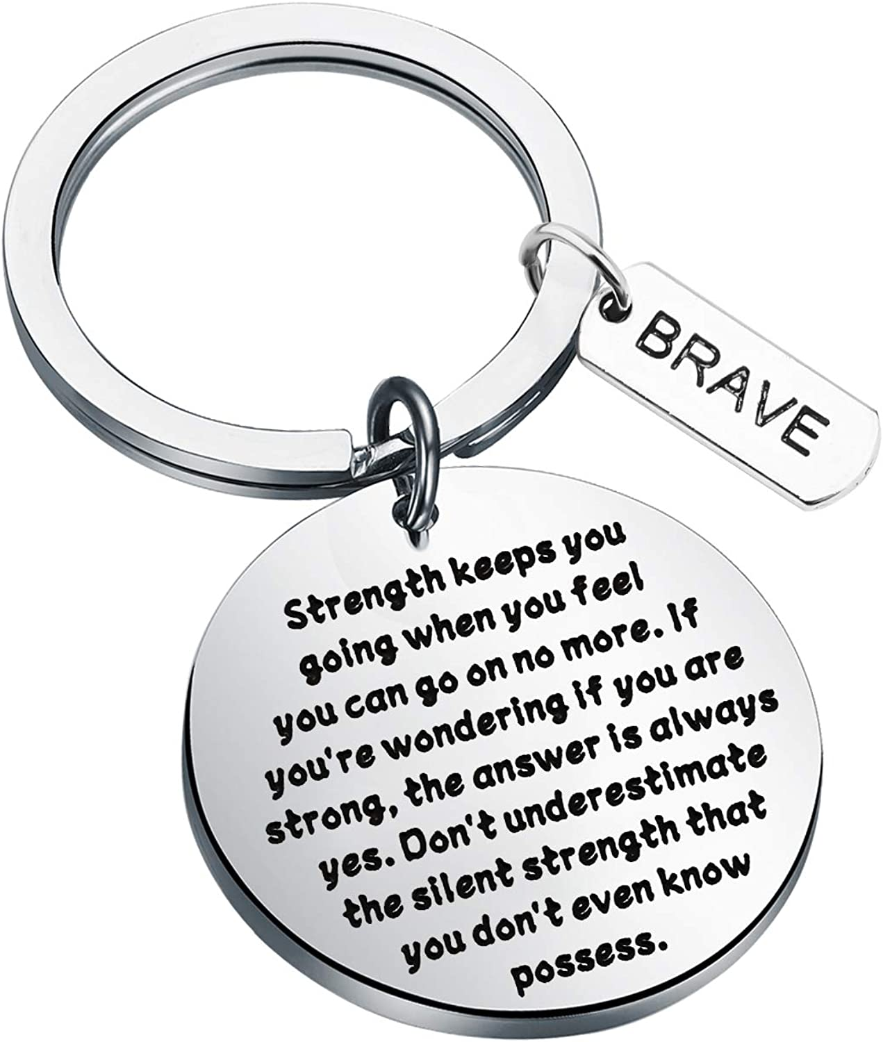AKTAP/Inspirational/Gifts/Recovery/Gift/Don/'t/Underestimate/The/Silent/Strength/That/You/Don/'t/Even/Know/Possess/Keychain/Warrior/Gift/Graduation/&nbs