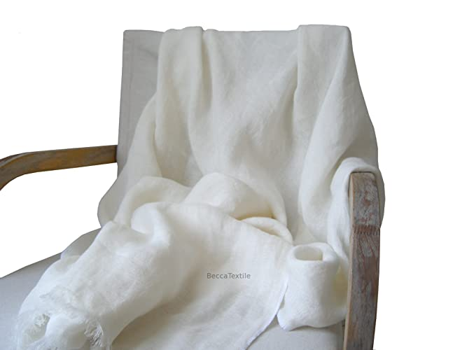 Manta decorativa de lino natural, suave y ligera, Plaid para sofá y cama de