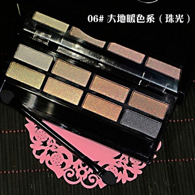 RSKD Paletas de maquillaje Profesional 8Color Nude Eyeshadow Palette Makeup Naked Smoky Shimmer Paleta De Sombras De Ojos Set Pigmento Sombra De Ojos con ...