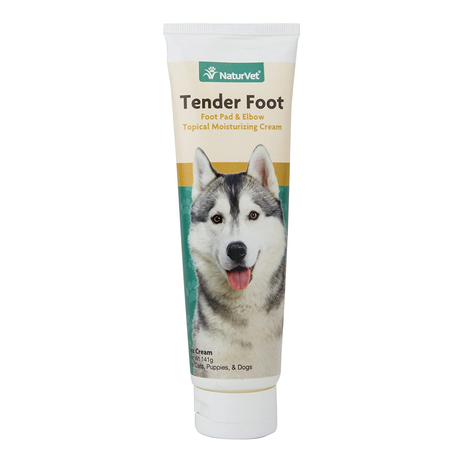NaturVet Tender Foot, Foot Pad & Elbow Topical Moisturizing Cream for Cats, Puppies and Dogs, 5 oz Cream, Made in USA Garmon Corp 978216