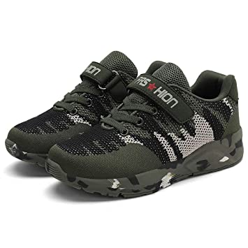 Amazon.com: BIG LION Children Running Shoes Camouflage Mesh ...