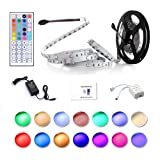 Amazon Price History for:Led Strip Lighting 5M 16.4 Ft 5050 RGB 150LEDs Flexible Color Changing Full Kit with 44 Keys IR Remote Controller , Control Box ,12V 2A Power Supply ,Not-Waterproof