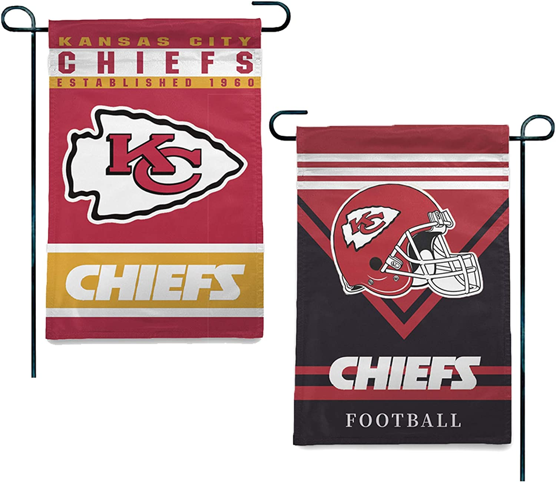 Kansas City Chiefs Kingdom Super Flags Football Stripes Garden Flag for Home Yard Lawn28x40 in