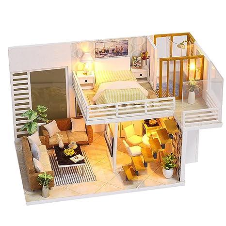 Amazon Com Eruptionus Diy House Model Sweet Handmade Dollhouse Gift
