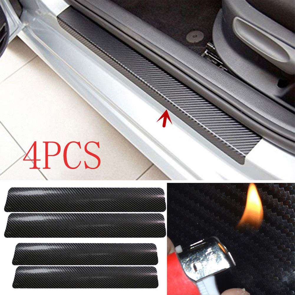 Amazon com xxiaothawxe 4pcs 3d car accessories doorsill scuff pedal protect cover anti scratch stickers black baby
