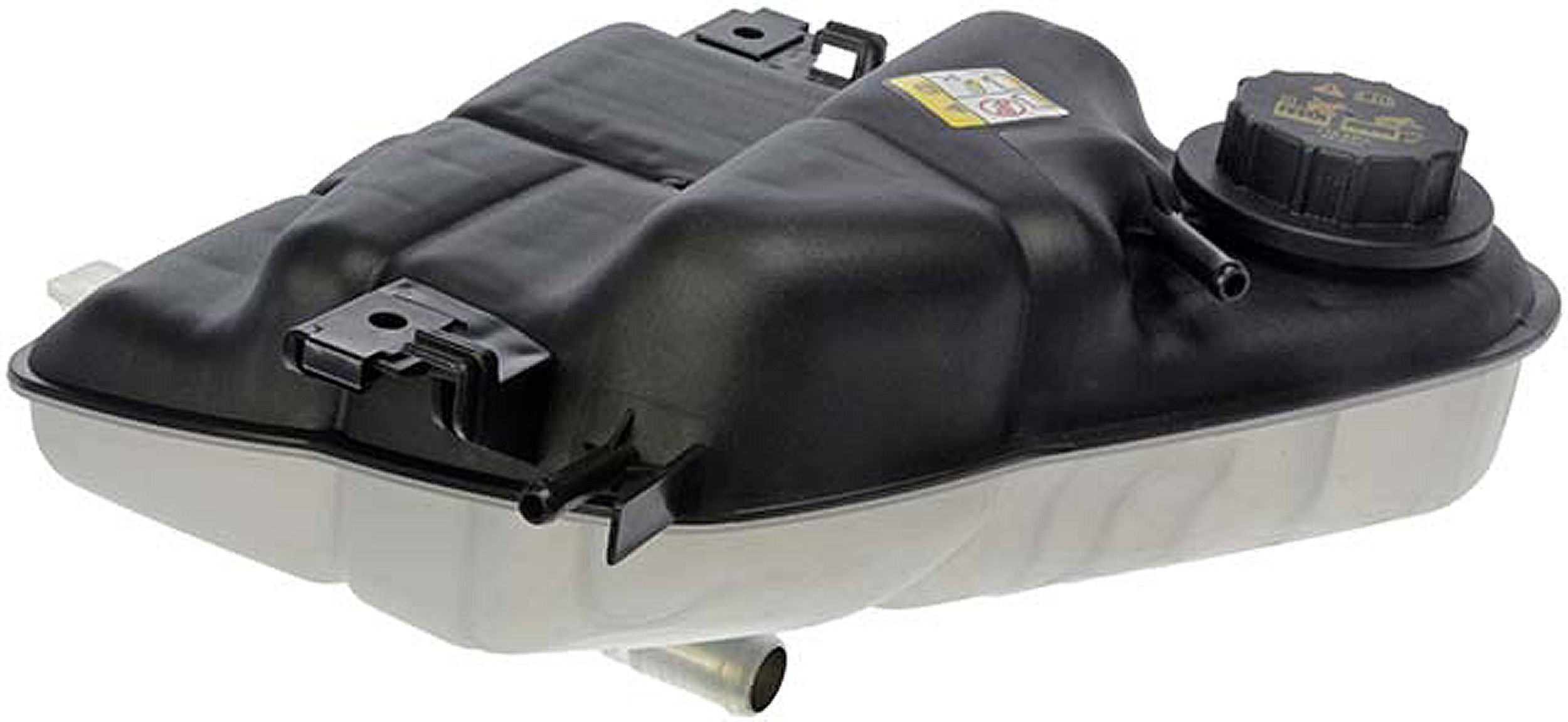 APDTY 714328 Radiator Coolant Recovery Degas Reservoir Overflow Expansion Plastic Tank Bottle w/Cap Fits 2003-2007 Ford Truck w/ 6.0L Diesel Engine (Replaces 6C3Z8A080B, 3C3Z8A080AE)