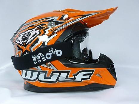 Cascos para niños - Wulf Flite-Xtra - Casco de moto con gafas para niño