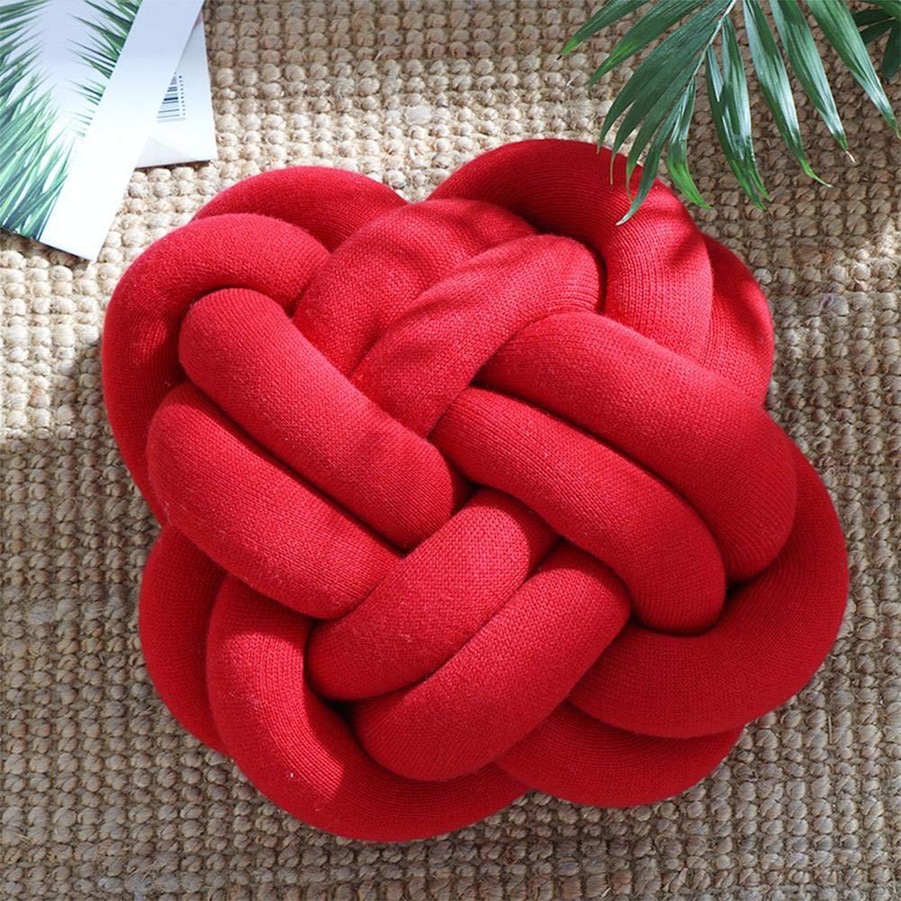 Eruditter Coussin cr/éatif Noeuds Doux Coussins Boules Coussins Canap/é Bureau Coussin B/éb/é Couchage Coussin D/éco D/écoration 4