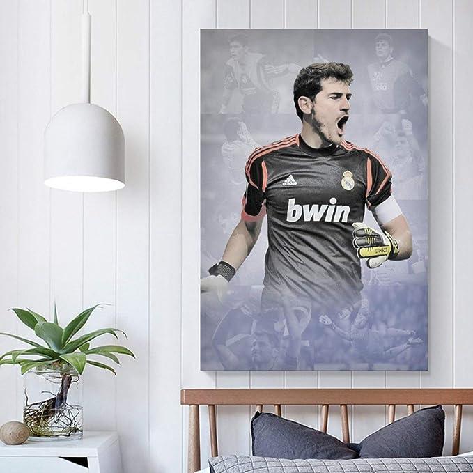 RTYHJ Póster de Iker Casillas y arte de pared, impresión ...