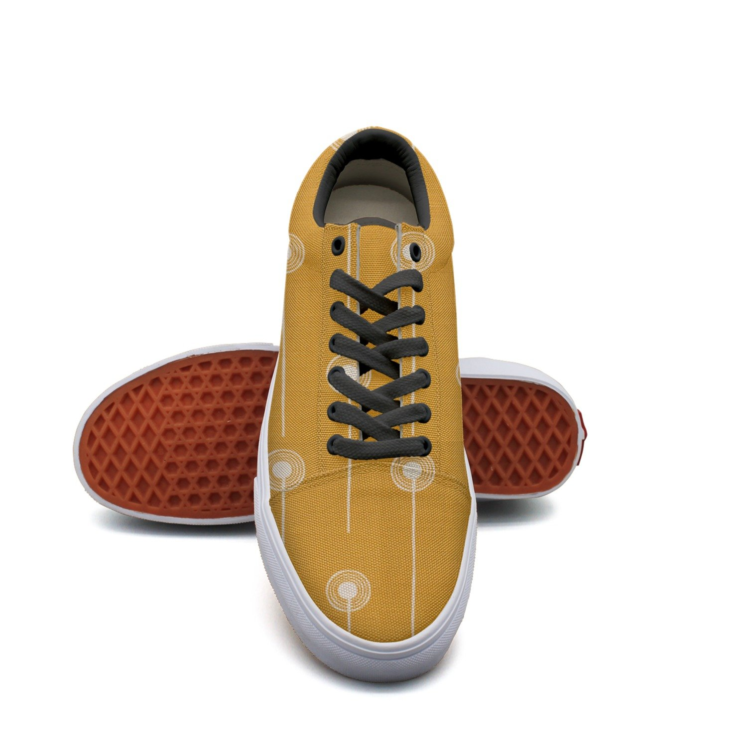 Dandelion Sketch On The Golden Women¡s Casual Shoes Slip-On Sports Nursing Trainers