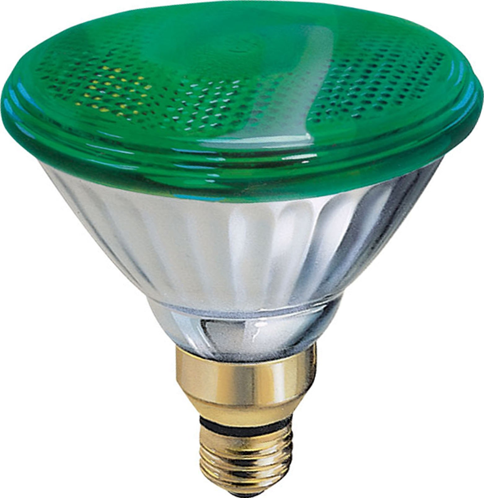 GE Lighting 13474 85-Watt Outdoor PAR38 Incandescent Light Bulb, Green by GE Lighting (Image #1)