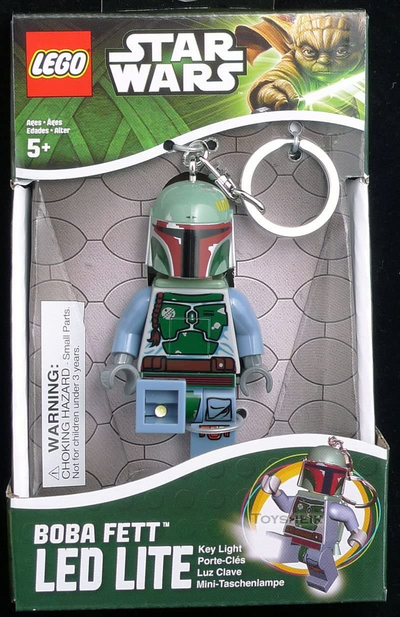 (USA Warehouse) Santoki LEGO Star Wars LED Lite Key Light Keychain - Boba Fett **ITEM#NO: 43E8E-UFE6 C2A9798