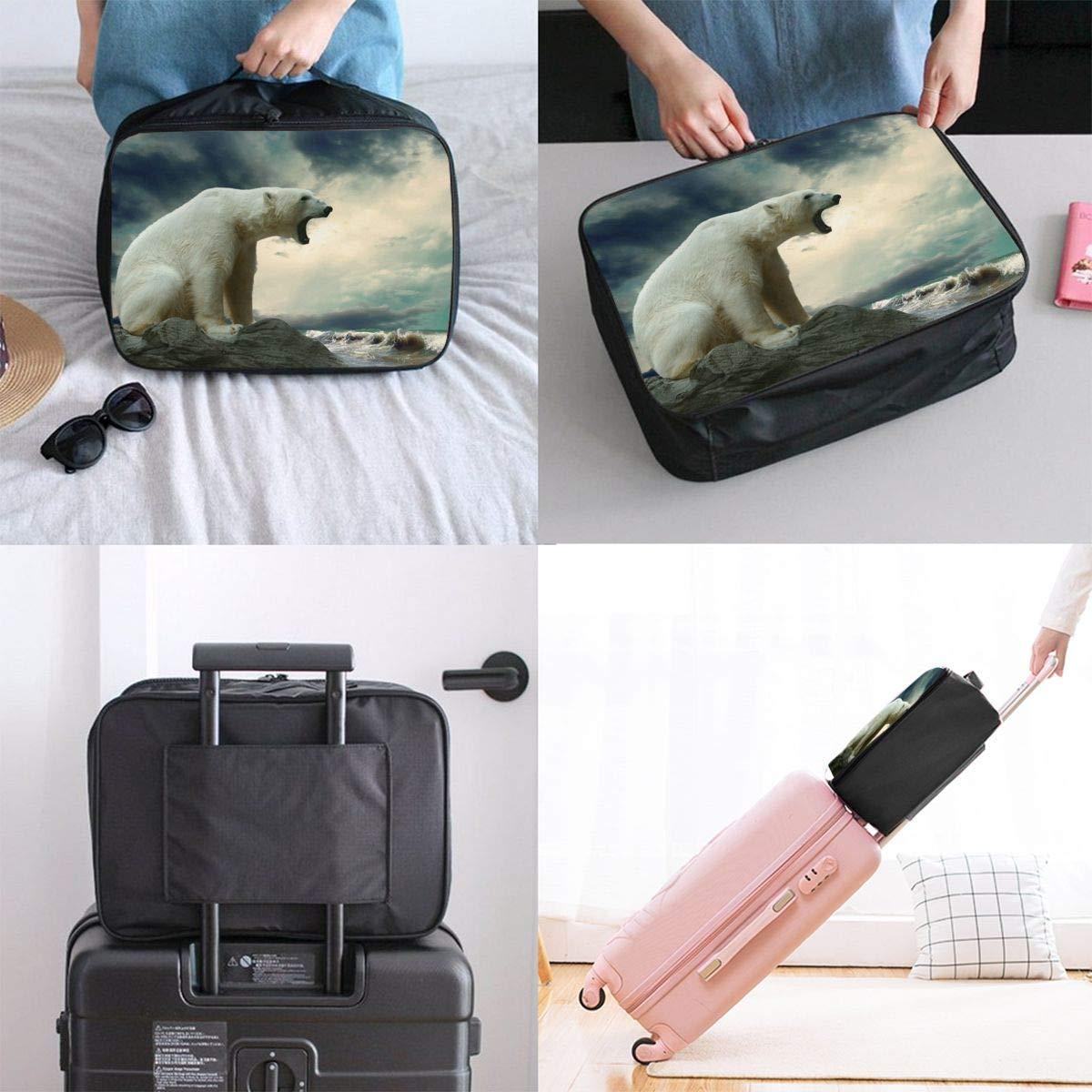 JTRVW Luggage Bags for Travel Lightweight Large Capacity Portable Duffel Bag for Men /& Women Roaring Polar Bear Travel Duffel Bag Backpack