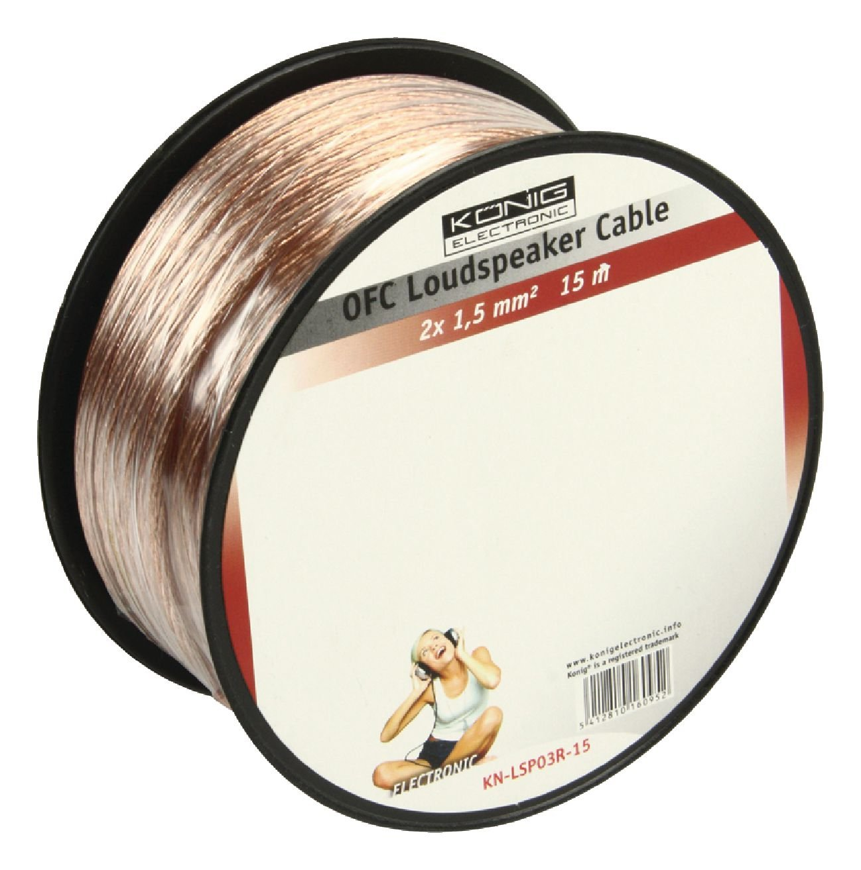 【超目玉】 Konig OFC Loudspeaker 1.5mm Cable Loudspeaker 2x 1.5mm Reel 15m Transparent OFC [KN-LSP03R-15] B0082JNRA6, 印傳の池田屋 甲州印伝の店:7b58fb13 --- arianechie.dominiotemporario.com