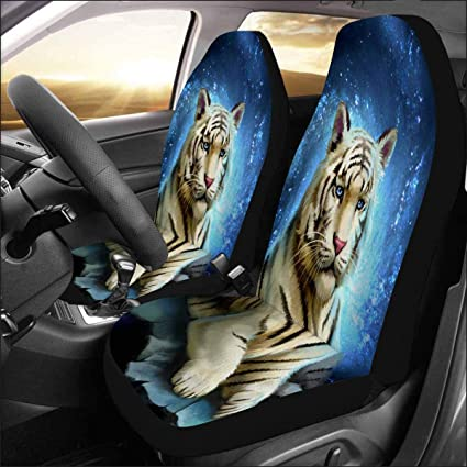 SUV Truck chaqlin Animal wolf Front Seat Covers Full Set for Men Women Car Bucket Seat Mat Covers Protector Cushion Universal Fit Sedan Van Set of 2