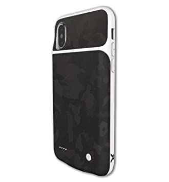 factory authentic 2935e fcf38 Amazon.com: JWSKINZ Camo Skin for LUX iPhone X Charging Case (Shadow ...