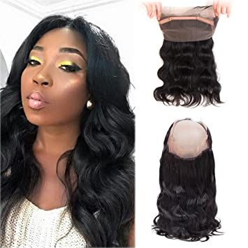 "Pre Plucked 360 Lace Frontal Body Wave Cheap Human Hair Frontal with Baby  Hair 16"" 852703a3a"