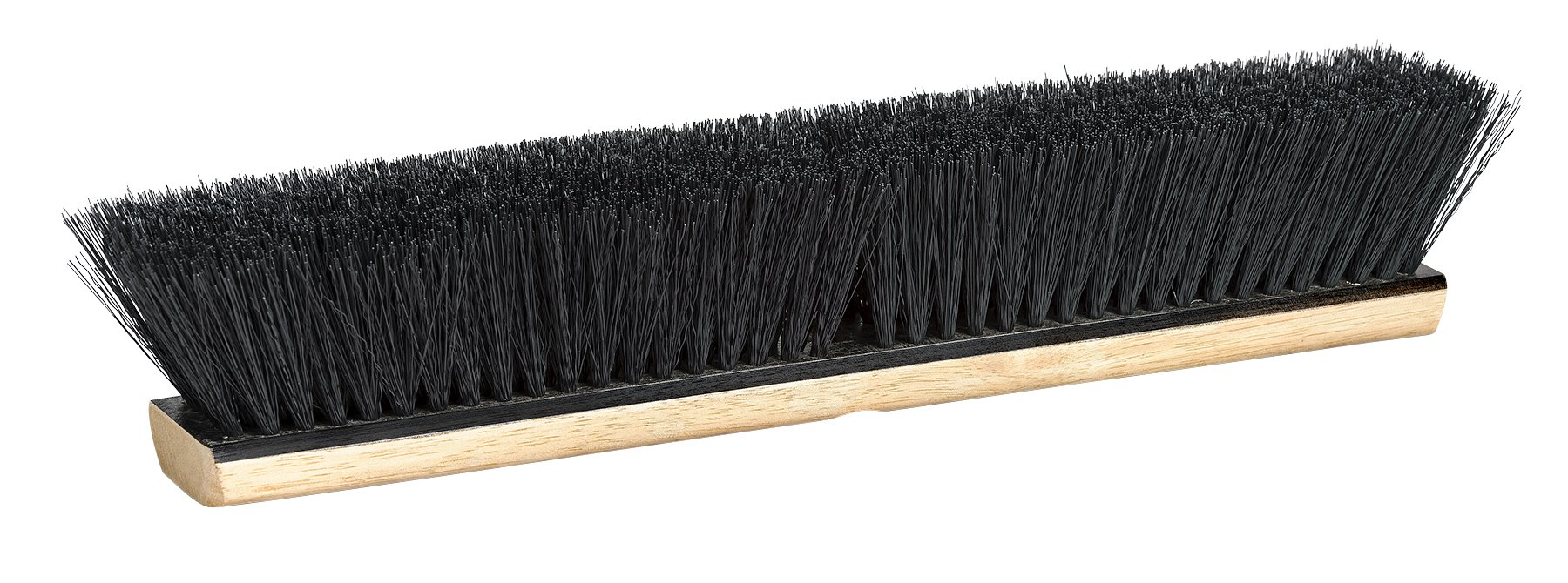 M2 Professional 24 Inch Tampico Fiber Heavy Duty Push Broom Head with Hardwood Block - Fine/Medium Sweep (Case of 12)