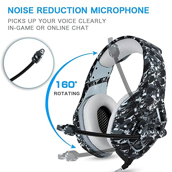 Amazon.com: Stereo Gaming Headphones with Mic Clip in-line Volume Control for Playstation 4 Xbox One Nintendo Switch PC Mac Computer Games Tablet Mobiles, ...