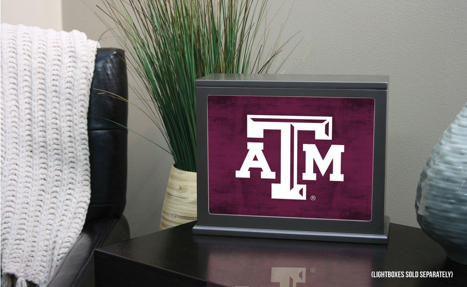 KH Sports Fan 9.75X7.75 Texas A/&M Aggies Colored Logo Collage Light Box Insert