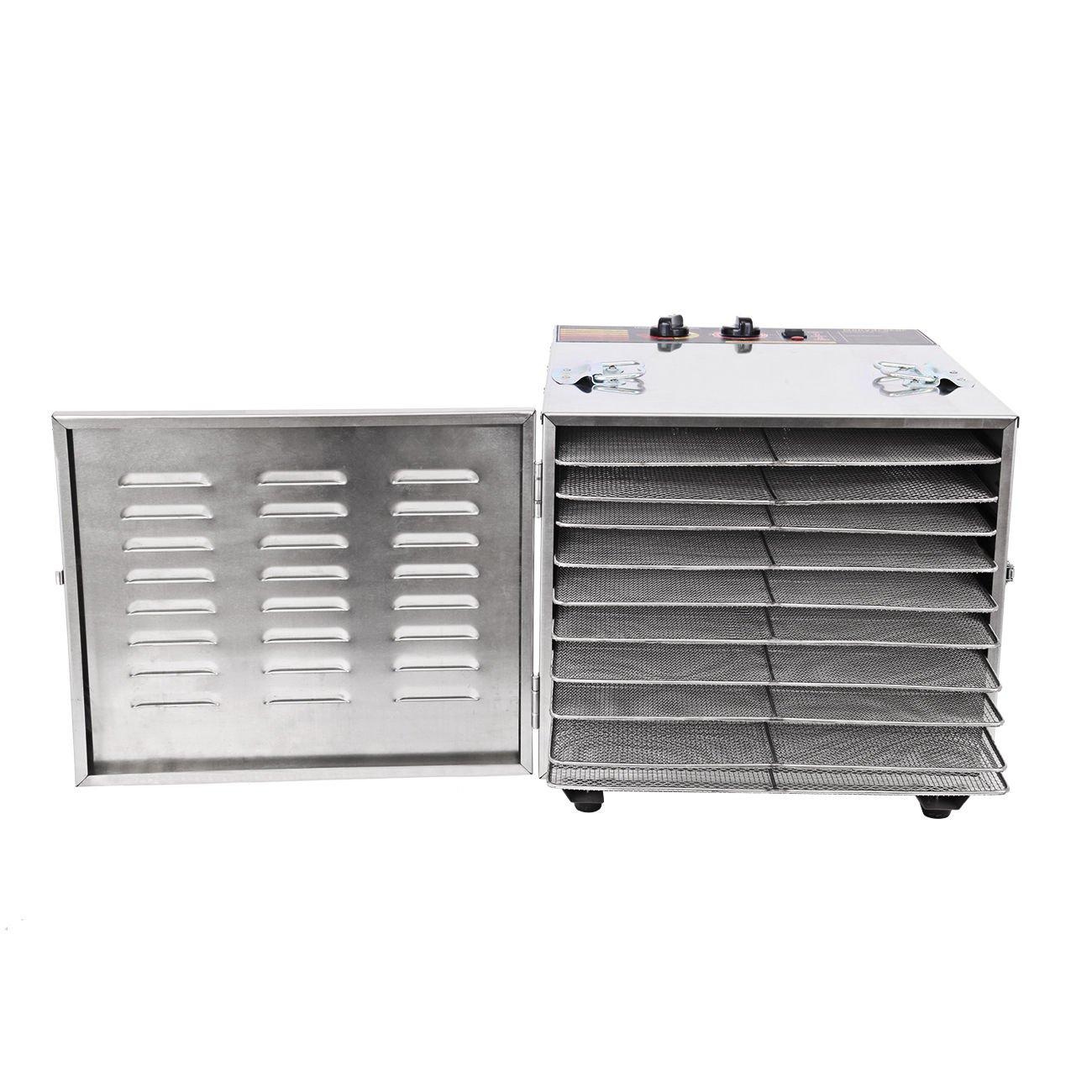 Ridgeyard 1000W Dehydrator Commercial Grade Stainless Steel Digital Food Dehydrator Jerky Dryer 10 Trays 158 Degree Fahrenheit with 15 Hour Timer by Ridgeyard (Image #4)