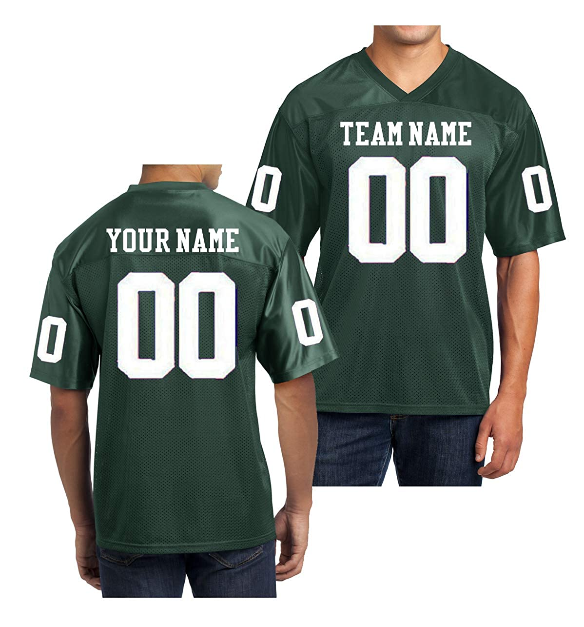 5ee6b8566e2 Amazon.com  Custom Football Replica Team Jersey  Clothing