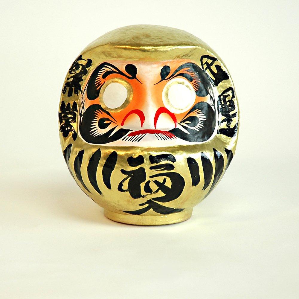 Daruma–Taglia 2–oro–ricchezza JAPAN CRAFT