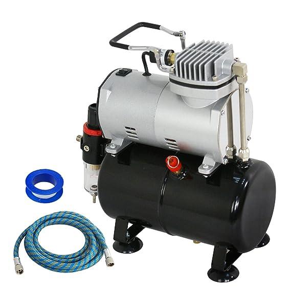Amazon.com: F2C TC-20T 1/5HP Pro Air Compressor Airbrush Kits W/ 6FT Hose and 3L Tank: Arts, Crafts & Sewing