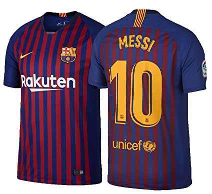 adc575a66 NIKE Barcelona Home Messi 10 Jersey 2018 2019 (Official Pro Size Printing) -
