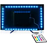 Tv Led Backlight,Maylit Pre-Cut 14.3ft Led Strip Lights for 65-75in Tv,4Pcs USB Powered Tv Lights kit with Remote,RGB…